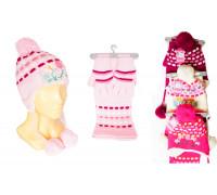 Комплект детский (шапка, шарф, перчатки)