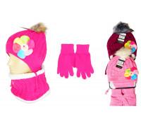 Комплект детский (шапка, снуд, перчатки)